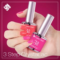 3 Step Crystalac gel polish - in matching bottles