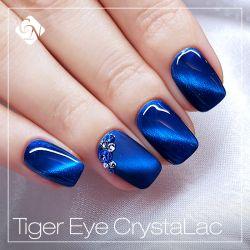 Tiger Eye CrystaLac gel polish