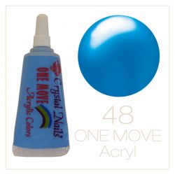 48. One Move Acrylic paint 5ml - neon Blue