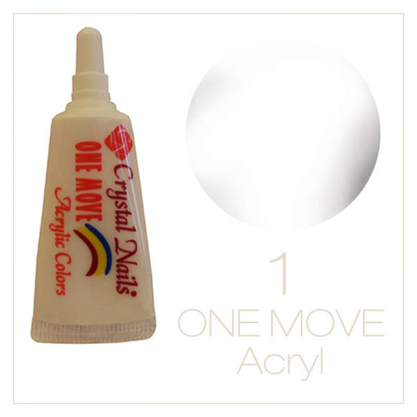01. One Move Acrylic paint 5ml - white